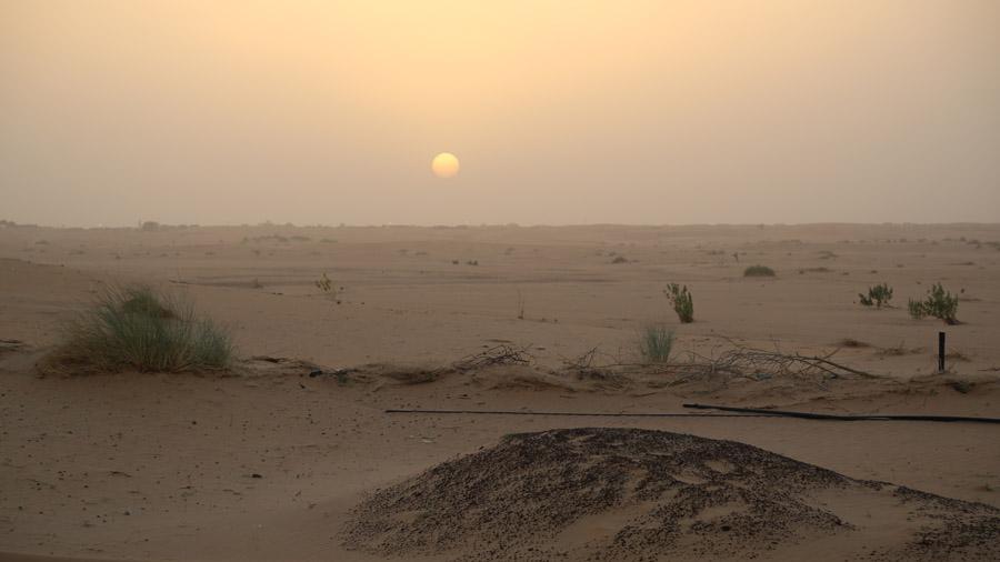 Mauritanie Chinguetti Coucher de soleil